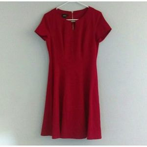 Bright Red Fancy Professional Business Dress